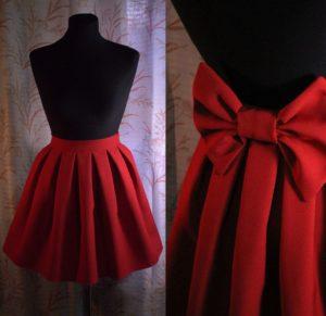элегантная юбка из габардина