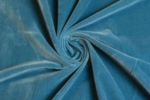 голубой хлопковый бархат