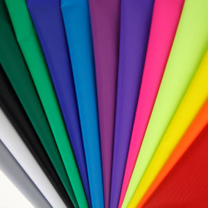 разноцветные ткани нейлон