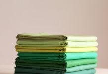 зеленые хлопчатобумажные ткани