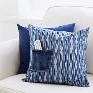 джинсовая ткань в интерьере