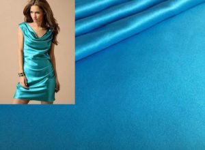 ткань и платье из атласа