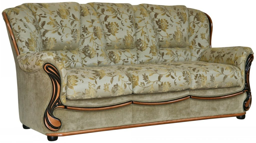 диван с обивкой из жаккарда