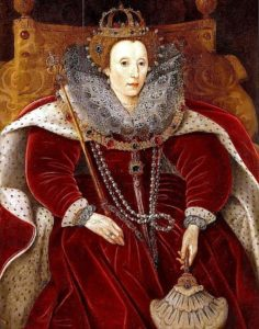 королева Елизавета в бархате