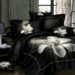 черное постельное белье