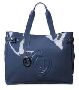 лаковая сумка синяя