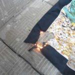 горение ткани