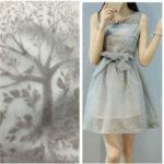 платье из шелковой органзы
