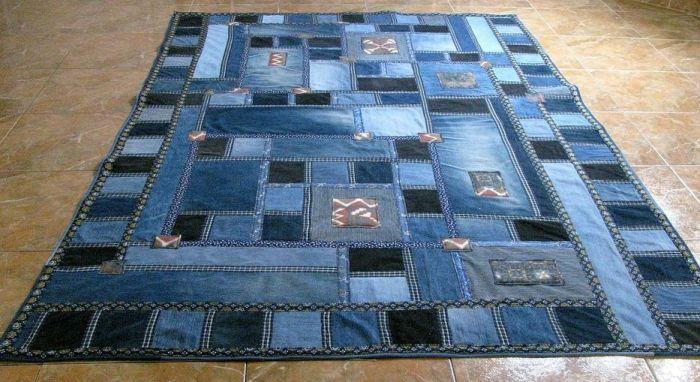 ткани для пэчворка - джинсовый коврик