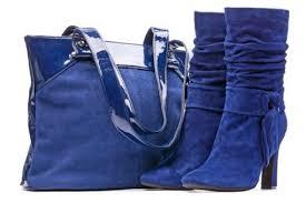 туфли и сумка из замши