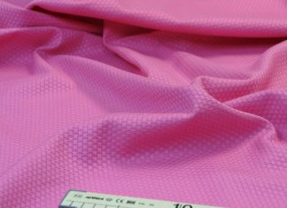 Ткань пике с сантиметровой лентой