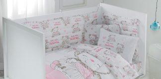 постельное белье для новорожденных розовое