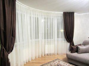 белый тюль в гостиную