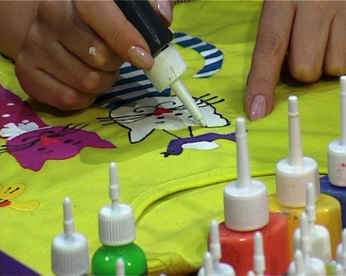 краски по ткани и рисунок