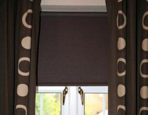 темно-коричневые шторы блэкаут