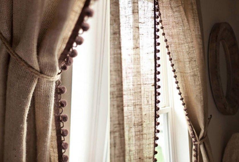 Льняные шторы фото
