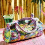 женственная сумка из меланжевой пряжи