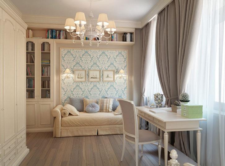 шторы в гостиной светлых тонов