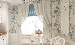 шторы в стиле прованс