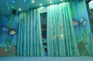 шторы голубые для детской