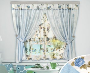 прованские шторы в голубых тонах